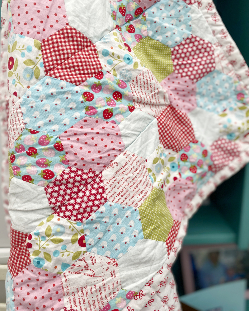 English Paper Pieced Hexi Quilt